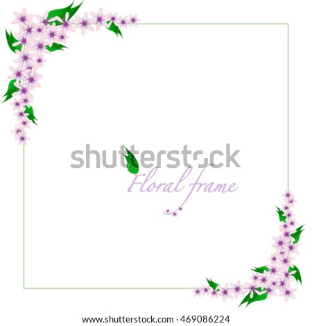 Floral decorated frame