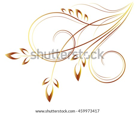 floral decoration of elements, vector graphics