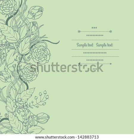Floral decorations with flowers and leaves