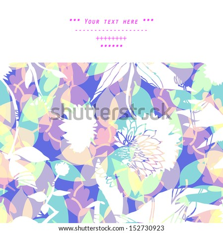Floral decorations with flowers and leaves in vector