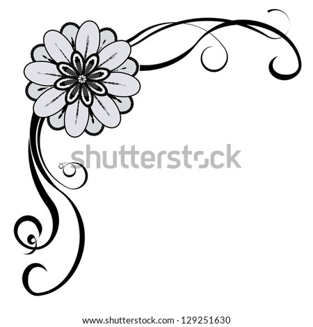 Floral Decorative Corner With Space For Text Or Image EPS10 Vector