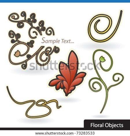 floral decorative objects
