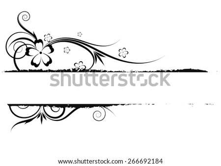 Floral decorative ornament with place for your text. vector - stock vector