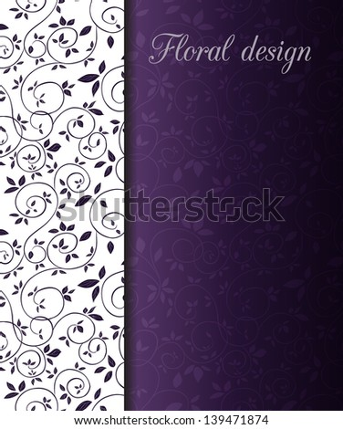 floral design card Vector illustration can be used for website background and greeting cards or cover decoration - stock vector