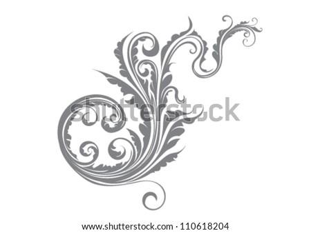 Floral design element - stock vector