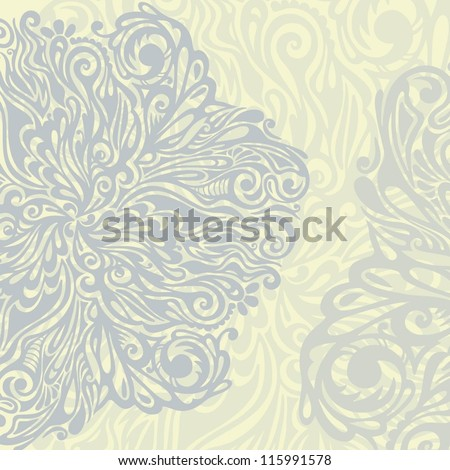 Floral design element vintage style, model for design of gift packs, patterns fabric, wallpaper, web sites, etc.