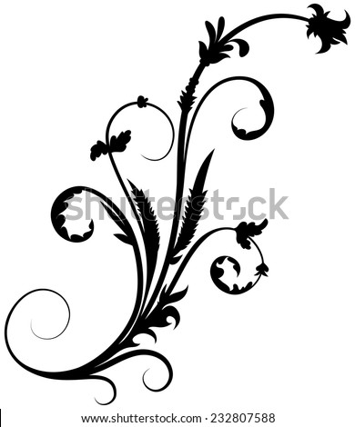 Floral element 16 - stock vector