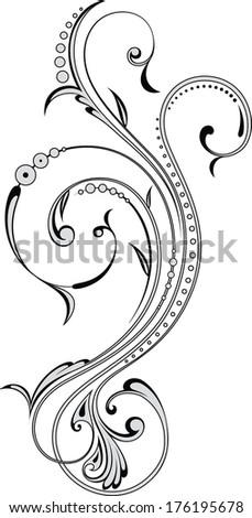 Floral element - Illustration - stock vector