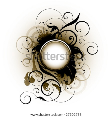 Floral elements on a white background - stock vector
