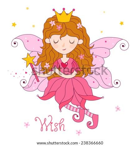 Floral fairy - stock vector