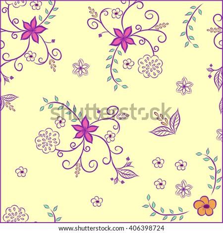 Floral.Floral Pattern.Floral Decoration.Floral Pattern.Floral Print.Floral Seamless.Floral Pattern.Floral Concept.Floral Stylish.Floral Pattern.Floral Chaotic.Floral Decoration.Floral Pattern.Floral. - stock vector