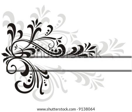 floral frame - stock vector