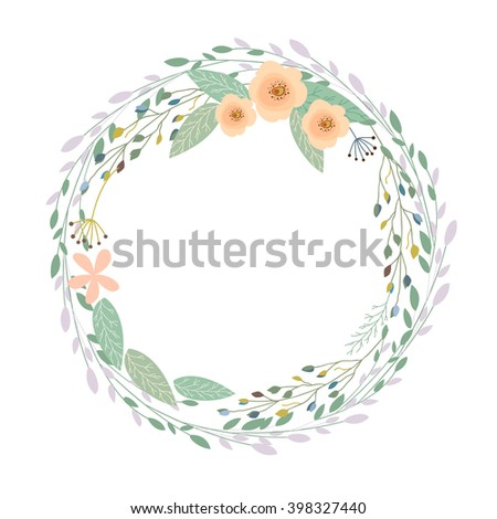 Floral Frame-Beautiful vintage wreath - stock vector