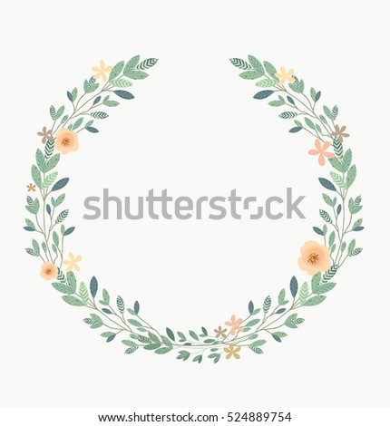 Floral Frame-Beautiful vintage wreath