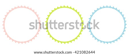 Floral Frame Collection. Set of cute retro flowers frames. - stock vector