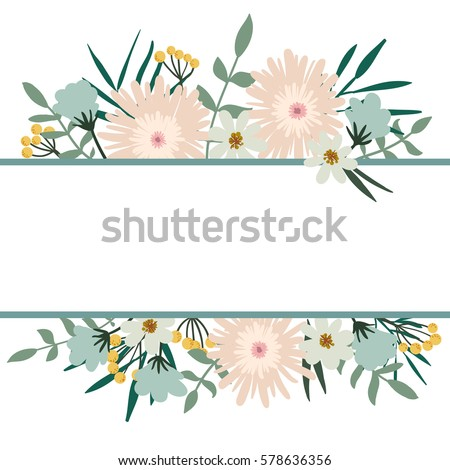 stock vector floral frame flower bouquet vintage cover flourish card with with place for your text 578636356