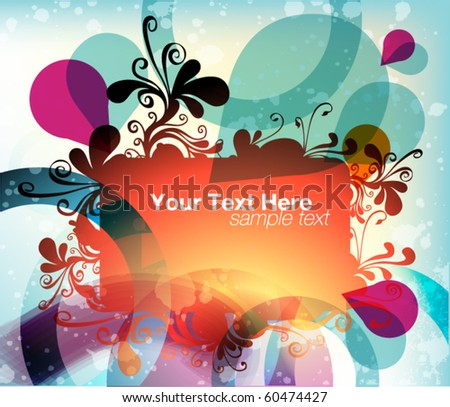 floral frame for text - stock vector