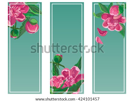 Floral frame set with peony