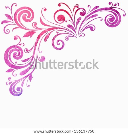 Floral frame. Vector watercolor background. - stock vector