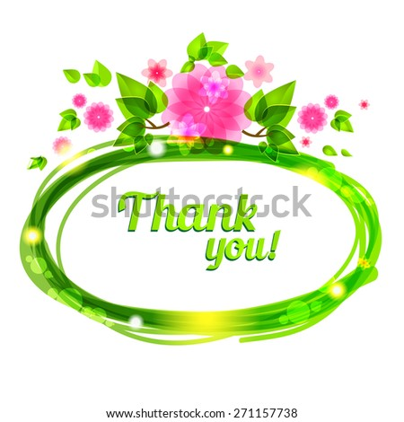 Floral frame with place for text. - stock vector