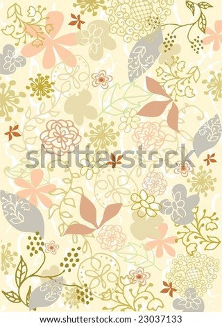 Floral fresh background 3 - stock vector