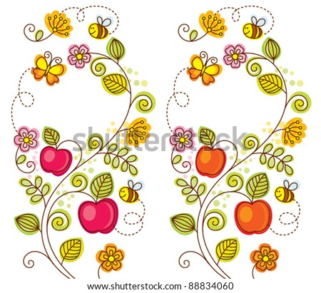 floral & fruit background