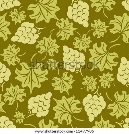 Floral grape seamless pattern - stock vector