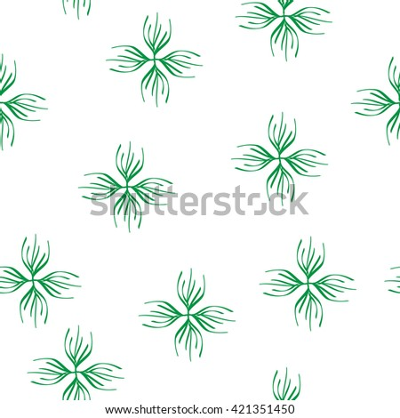 Floral green seamless pattern. Fashion graphic background design. Modern stylish abstract texture. Colorful  template for prints, textiles, wrapping, wallpaper, website etc. VECTOR illustration  - stock vector