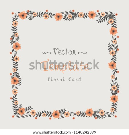 Floral greeting card invitation template wedding stock vector floral greeting card and invitation template for wedding or birthday anniversary vector text box and stopboris Images