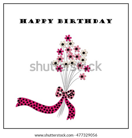 Floral greeting card illustration suitable various stock vector floral greeting card illustration suitable for various types of celebrations m4hsunfo