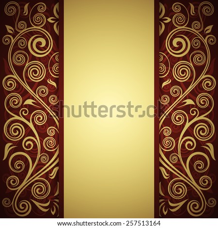 Floral grunge background. - stock vector
