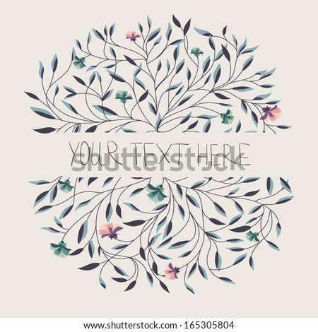 Floral invitation - stock vector