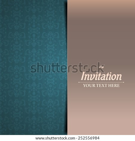 Floral invitation - stock vector