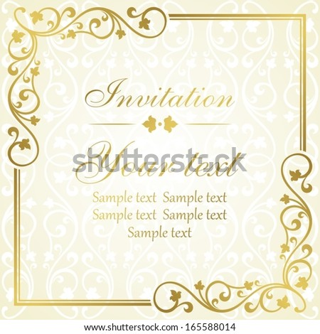 Floral invitation card.  - stock vector