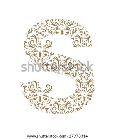 floral letter ornament font
