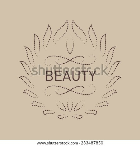 Floral logo template for Beauty salon, Spa center, boutique, cosmetician shop, yoga or fitness class. Elegant vector logotype - stock vector