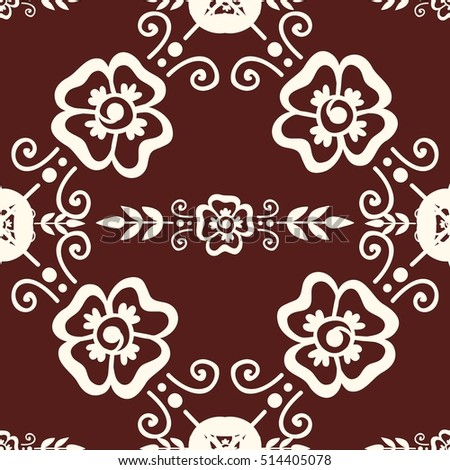 Floral mehendi pattern ornament