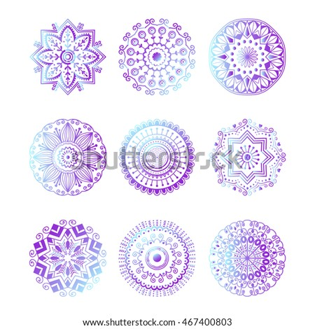 Floral mehendy lower pattern ornament