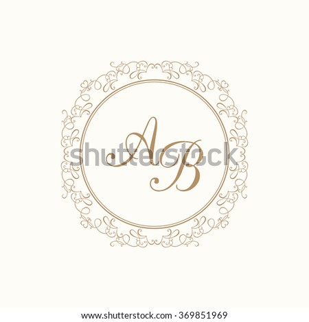 Floral Monograms Borders Frames Cards Invitations Stock Vector ...