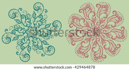 Floral motives for design. Isolated floral ornaments. Editable. Use as: elements for design, pattern elements, logo elements, decorative elements