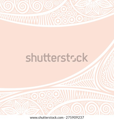 Floral nature pattern card vector illustration