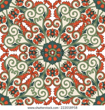 Floral oriental pattern. - stock vector