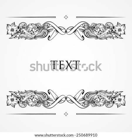 Floral ornament and place for text  - stock vector