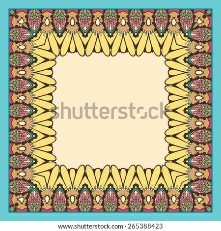 Floral Ornament Frames Borders Invitation Cards Stock Vector