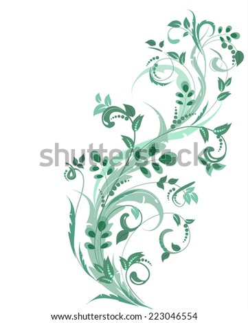 floral ornament for your design - stock vector