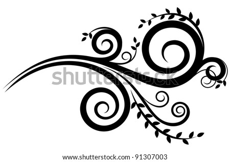 Floral ornament on white background. Isolated illustration - stock vector