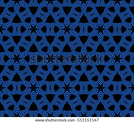 floral ornament. seamless vector pattern. black, blue color. for wallpaper, wedding and holiday invitation, fashion design.