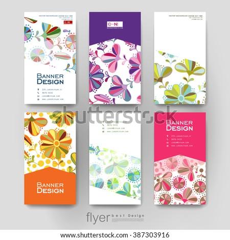 Floral Ornament Vector Brochure Template Flyer Stock Vector