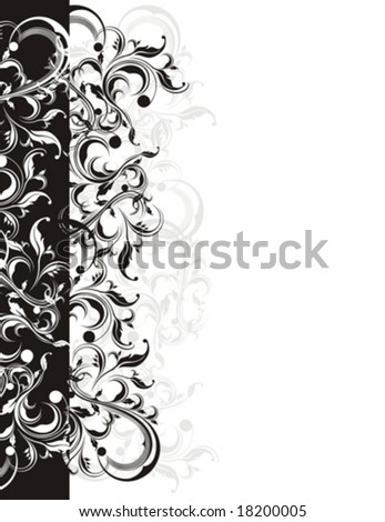 floral ornaments in vector format, very easy to edit, individual objects! - stock vector