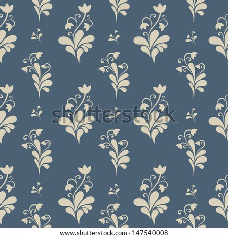 Floral ornate seamless pattern. Endless pattern with flowers can be used for web design, wallpaper, printing on the surface paper or cloth etc. - stock vector